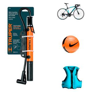 Mini Bomba de Mano para Bicicleta Portátil Inflador de Bicicleta Fácil de Usar