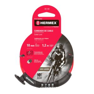 Cadena Seguridad Para Bicicleta 10mm X 1.20m – Combinación