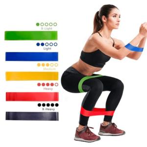 Pack 5 Bandas Elásticas De Resistencia Gimnasia Fitness Yoga
